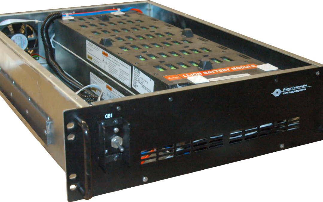 A UPS module with a Lithium Ion Battery drawer